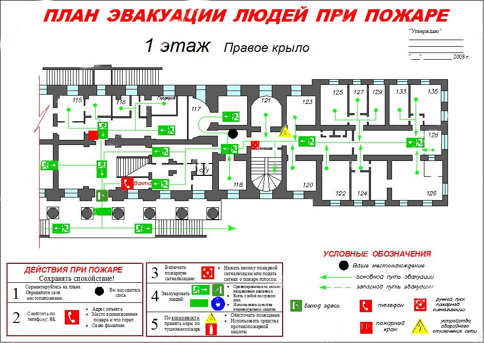 План эвакуации при пожаре программа скачать